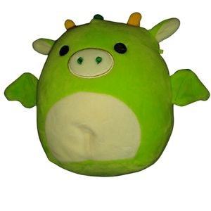 Squishmallows Dexter the green dragon. 8 inches